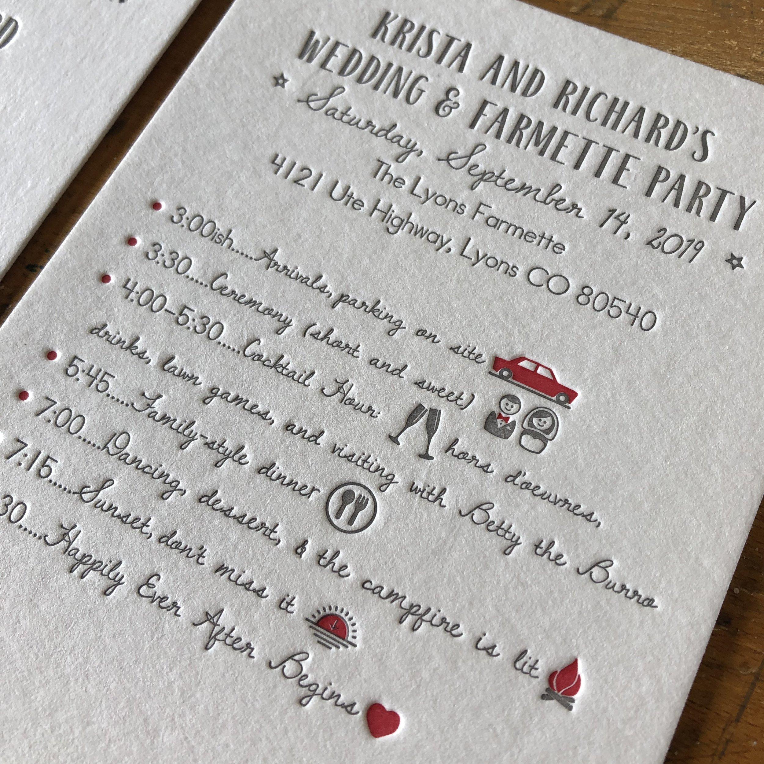 Wedding Invite Inspiration Reb Peters Press