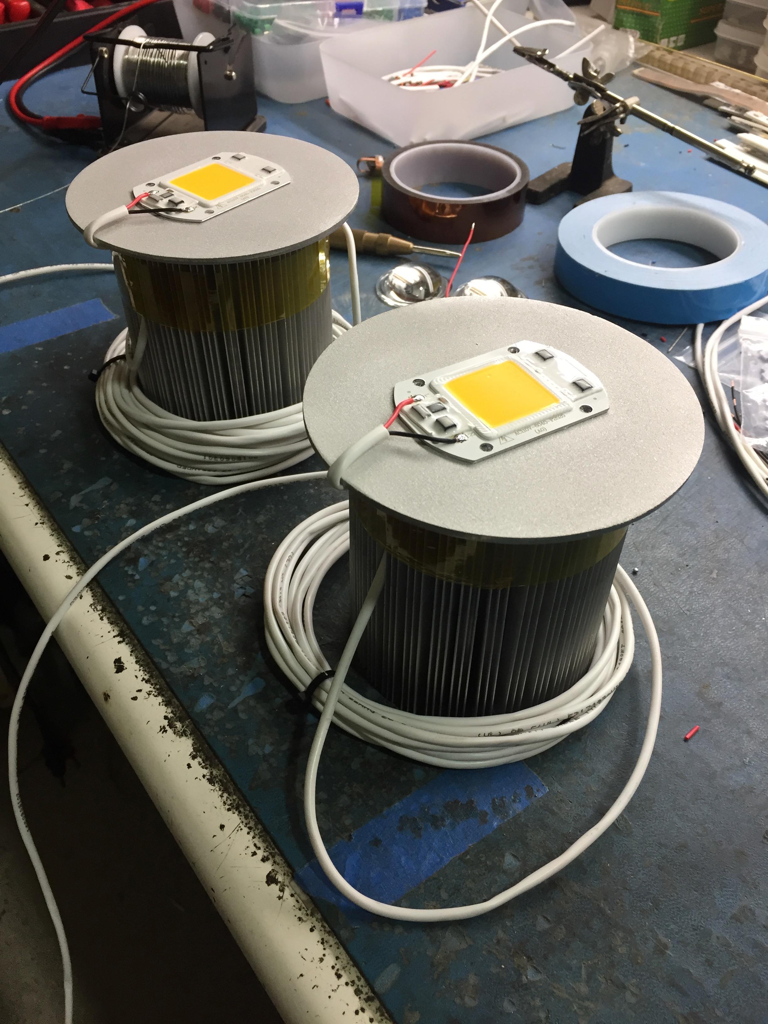 High power LED beacons designed for Burning Man 2017.