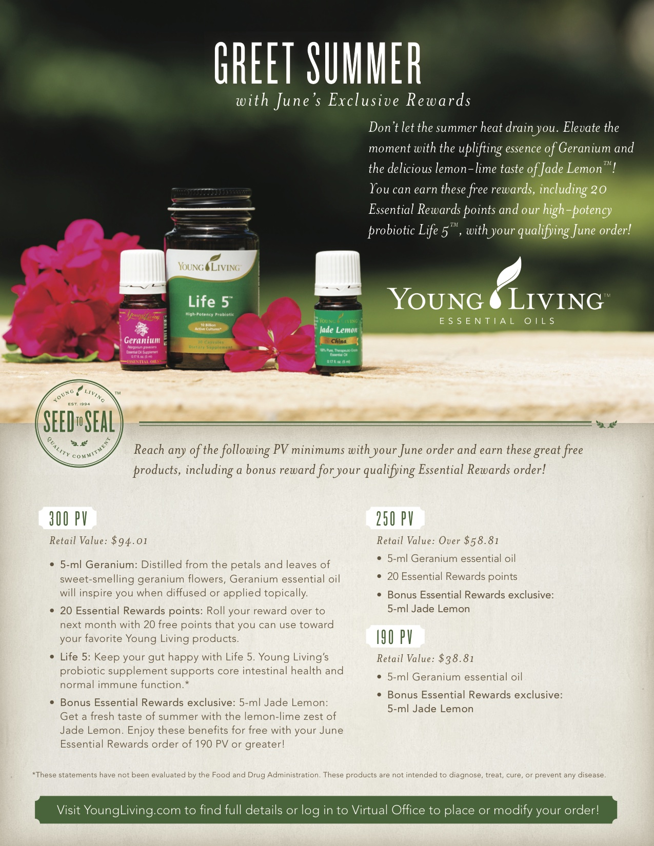 Young Living June Promotions