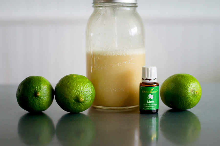 DIY Coconut lime body wash Young Living Essential Oils