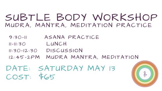 Subtle Body workshop at Essencia Yoga Teacher Training