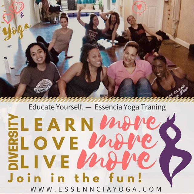 Every person who comes through the doors at Easencia has taught us . #yogatransformation #DiverseCity #EsenciaYoga #yogaforthepeople #yogateachertraining #dupagecounty
