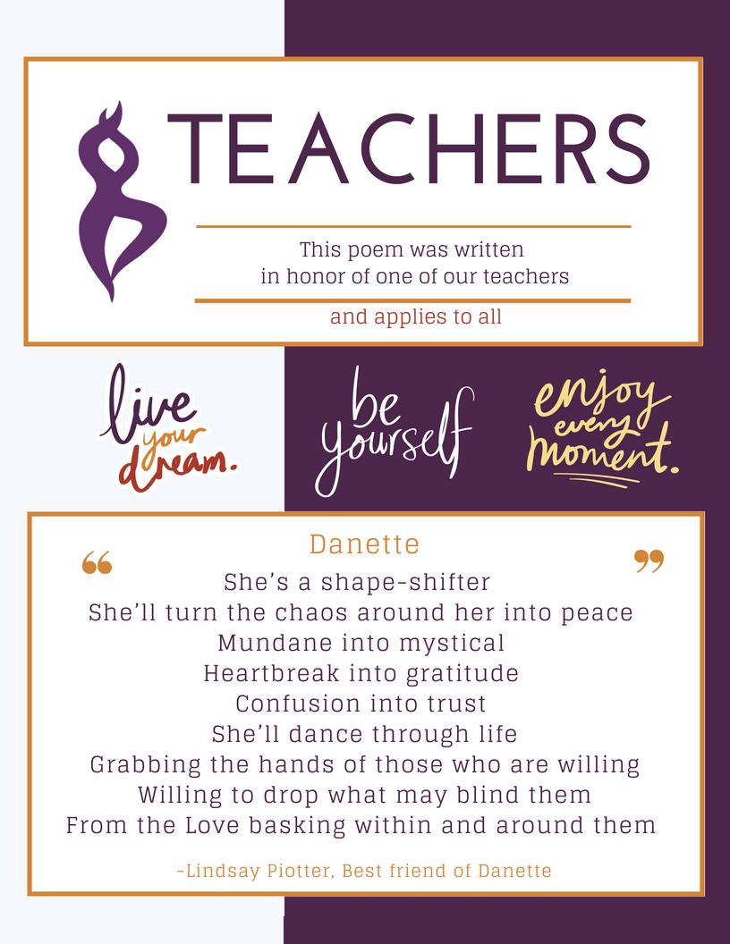 Essential Yoga Teacher Traits - Poem