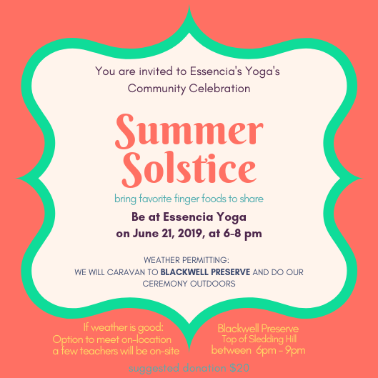 Summer Solstice Yoga Ceremony