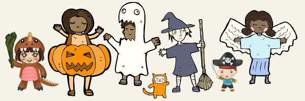 Wear your costumes if you'd like!