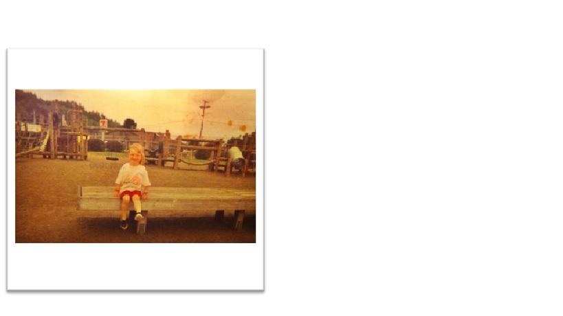 Vik at her childhood park.