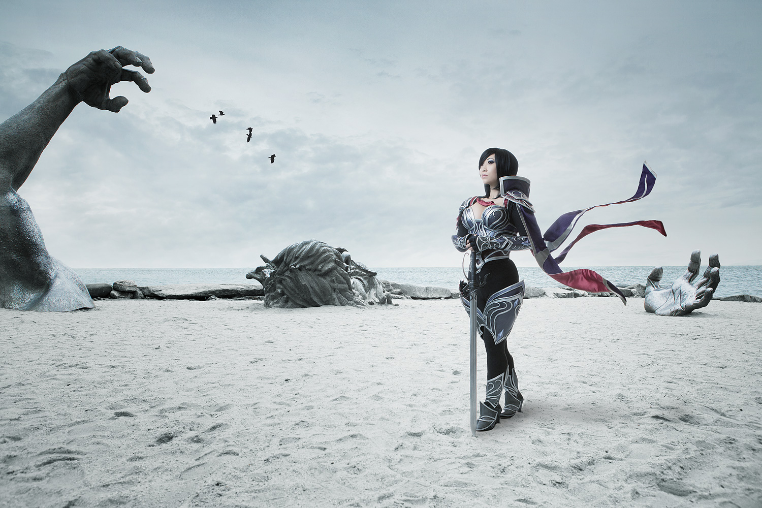 Yaya Han as Fiora of League of Legends