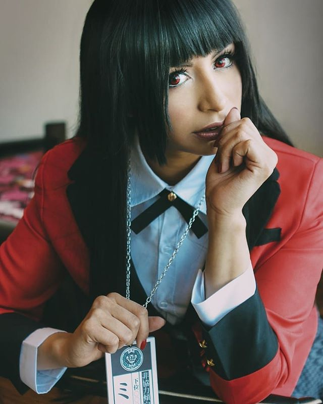 Le Season 2 is out. I'm planning on finishing it today. @kakegurui_jp. With that being said here's a pic of my favorite Yumeko cosplay! 🦸@cosmicpandabear