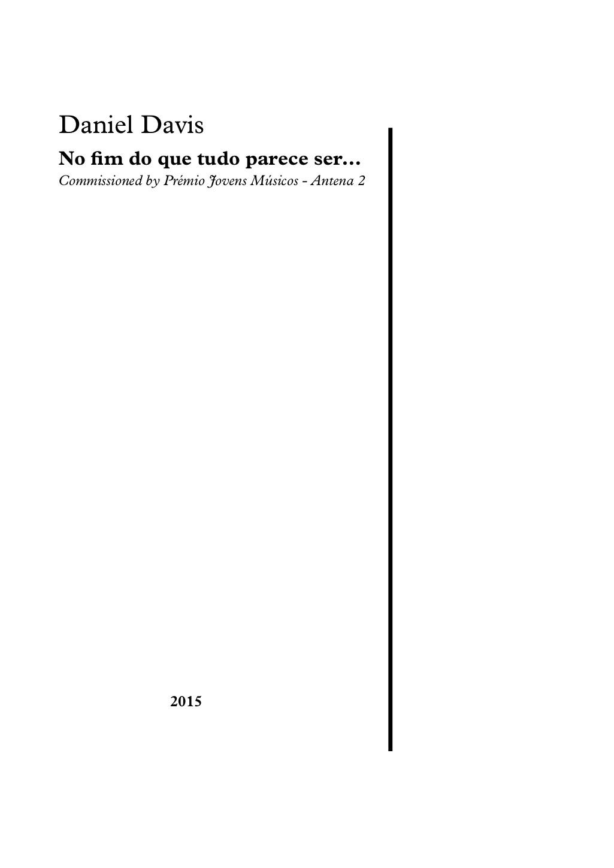 No fim do que tudo parece ser... (2015)