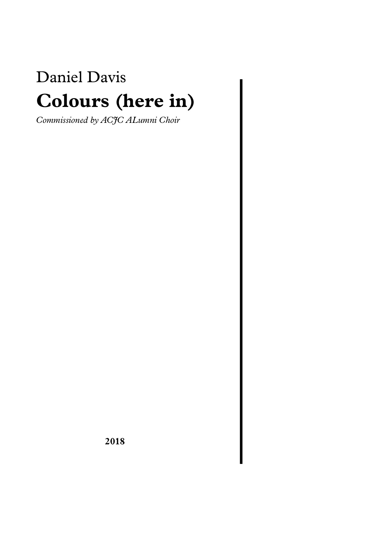 Colours (here in) - (2018)