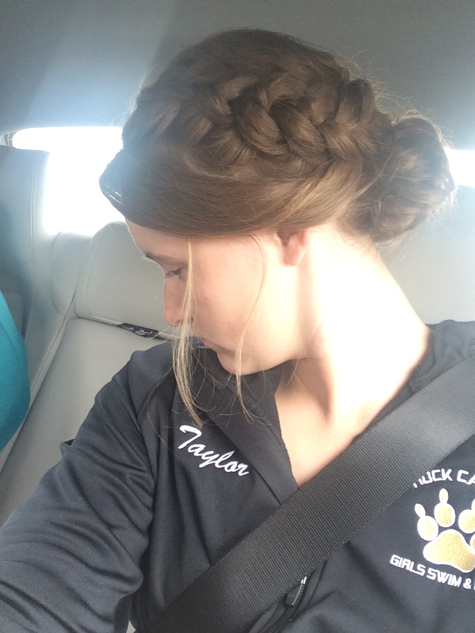 My hair- I loved the way she did this!