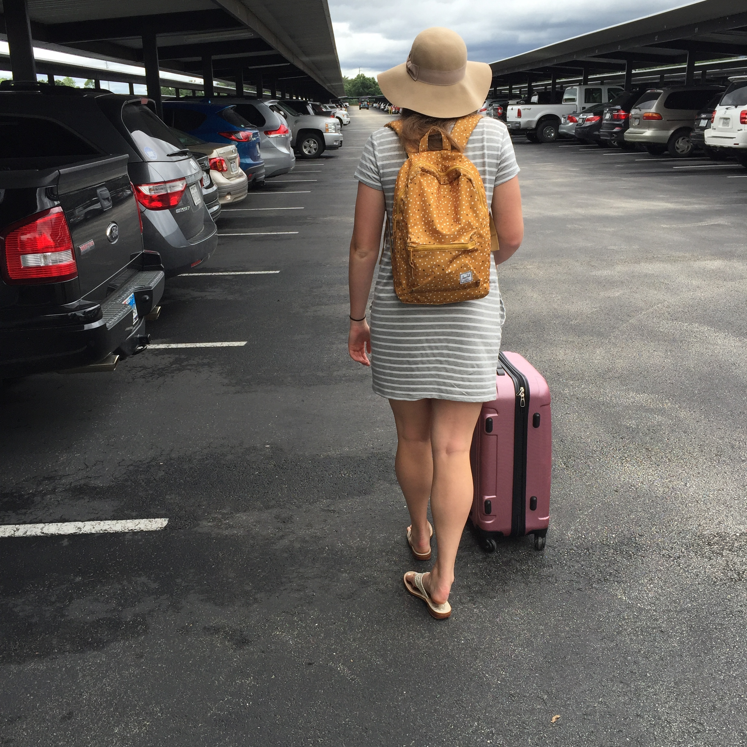 Similar shirt dress  | Caslon (Nordstrom)   Similar Hat  | H&M (and it's on sale!)