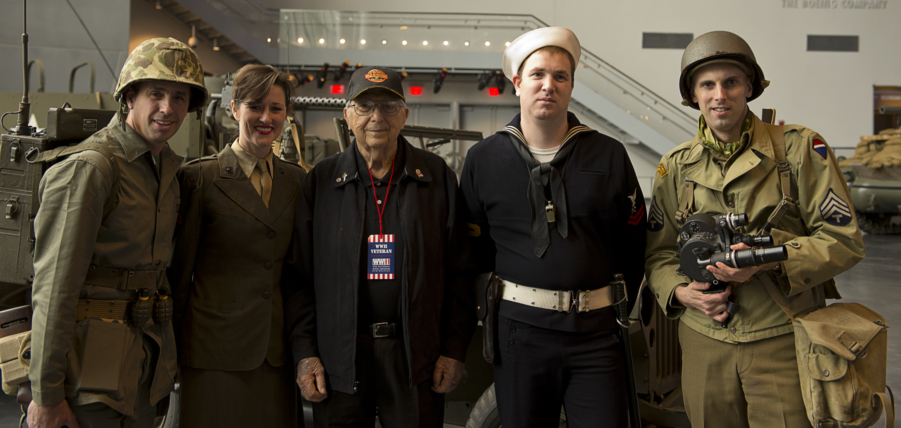 WWII Veteran and the Living Historians