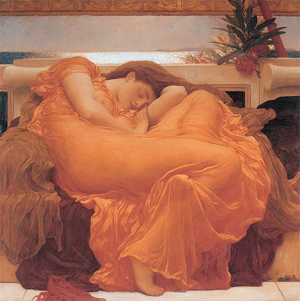 599px-Flaming_June,_by_Fredrick_Lord_Leighton_(1830-1896)