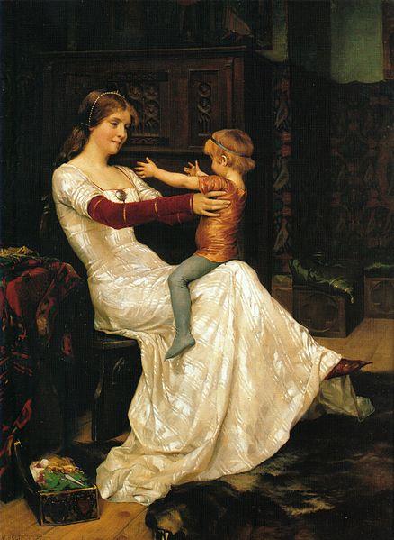 """Queen Blanka"" by Albert Edelfelt"