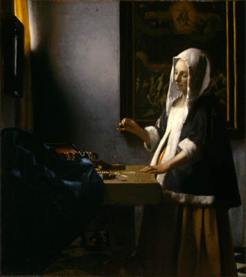 """""""Woman Holding A Balance"""" by Vermeer"""