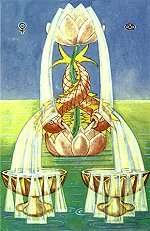 2 of Cups from the Thoth Tarot