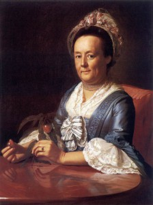 Portrait of Mrs John Winthrop by John Singleton Copley