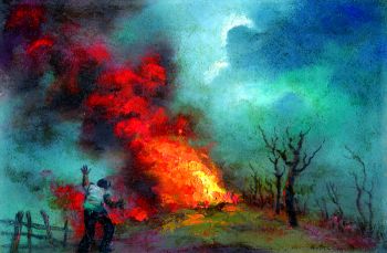 """""""Fire on the Hill"""" by Anchise Picchi"""