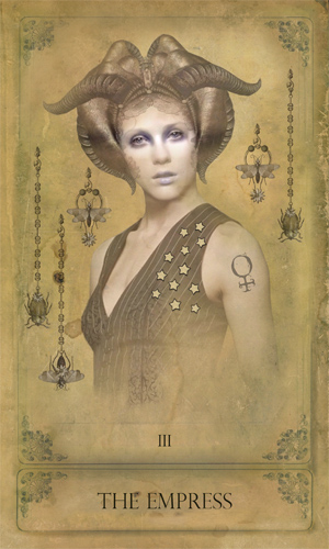 """""""The Empress"""" from the Sepia Stains Tarot deck"""