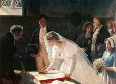 Painting by Edmund Blair Leighton