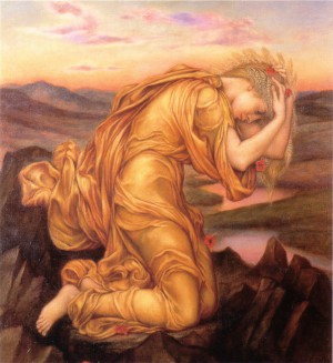 Demeter Mourning Persephone by Evelyn De Morgan
