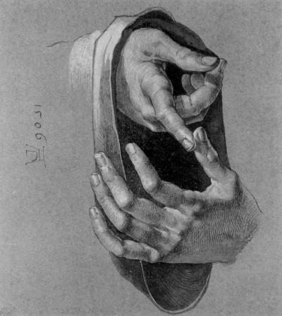 """""""Study of Hands"""" by Durer"""