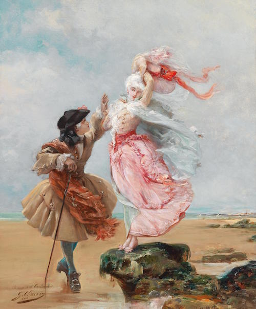 Painting by George Jules Victor Clairin