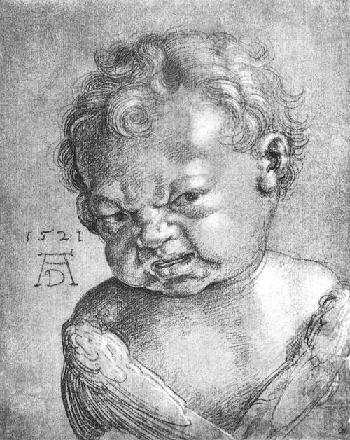 """Weeping Angel Boy"" by Albrecht Dürer"