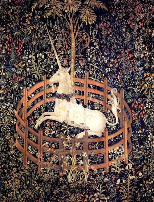 """The Unicorn in Captivity""     The Cloisters  ,  The Metropolitan Museum of Art  ,   New York  ."