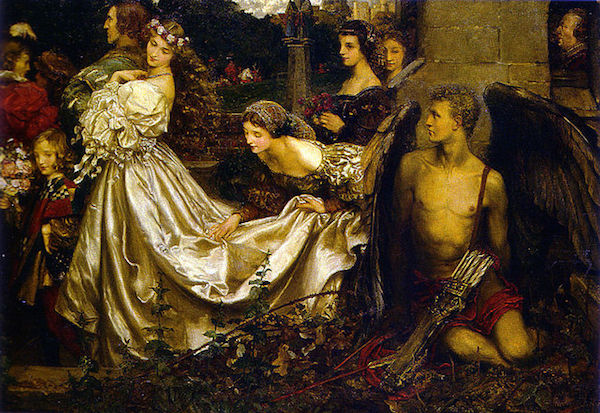 "Eleanor Fortescue Brickdale, 1906. ""The Uninvited Guest""  Public Domain, https://commons.wikimedia.org"