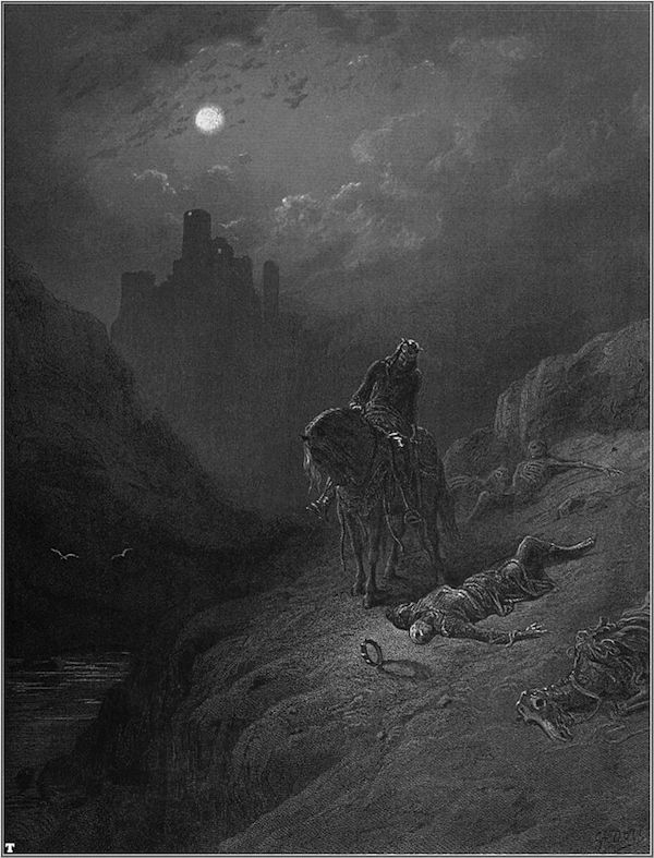 "Gustave Doré, 1868, ""Idylls of the King"" Public Domain, https://commons.wikimedia.org"