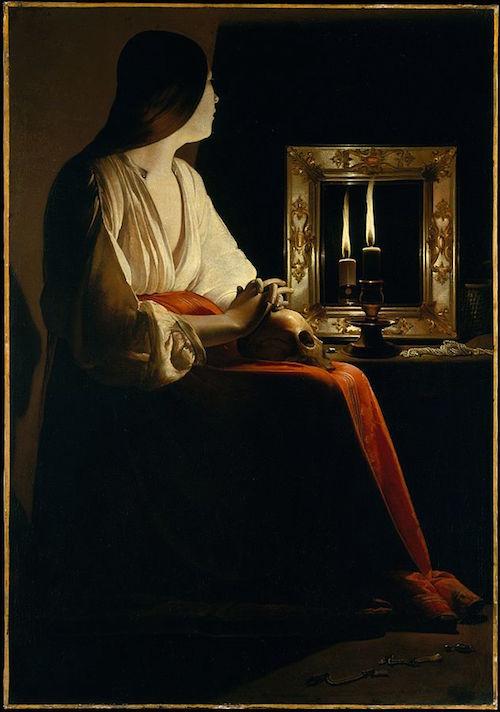 """Georges de La Tour - 1625-1650, """" Büßende Maria Magdalena"""", Public Domain, https://commons.wikimedia.org"""