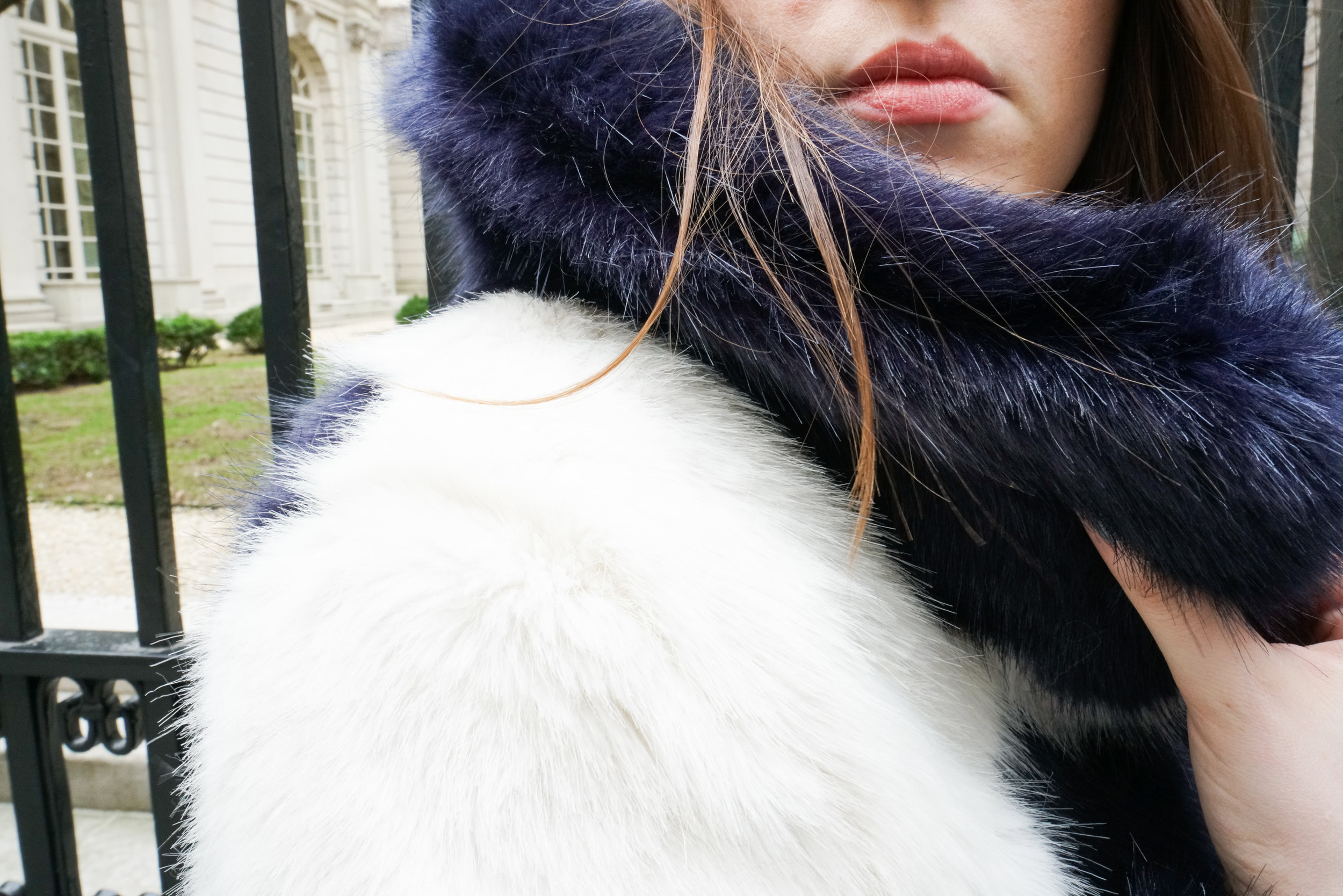 Faux Fur for Evening - A bold geometric pattern makes you the belle of the ball wherever you are