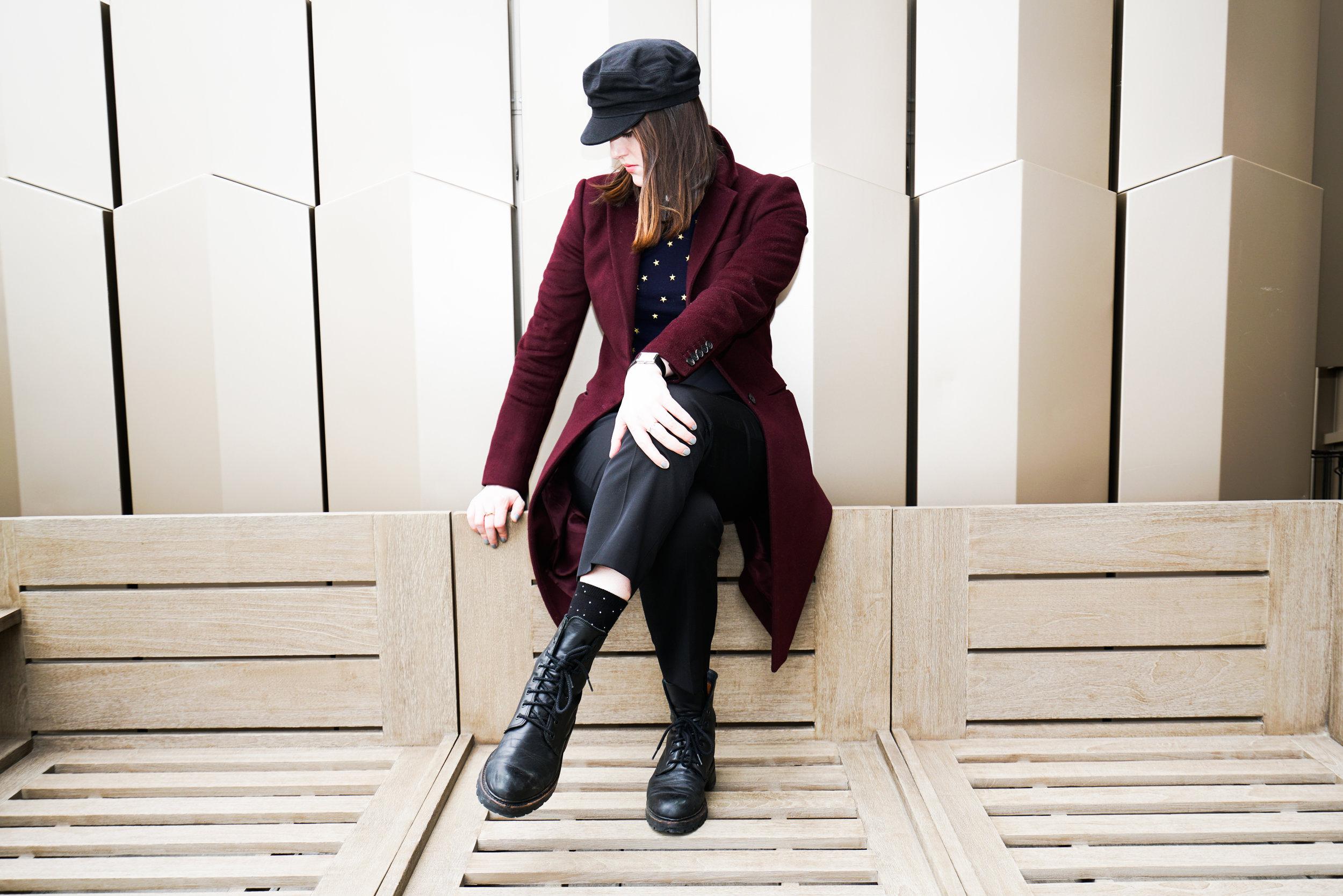 Rich & Minimal - A twist on menswear minimalism, anchored by a rich shade of Burgundy