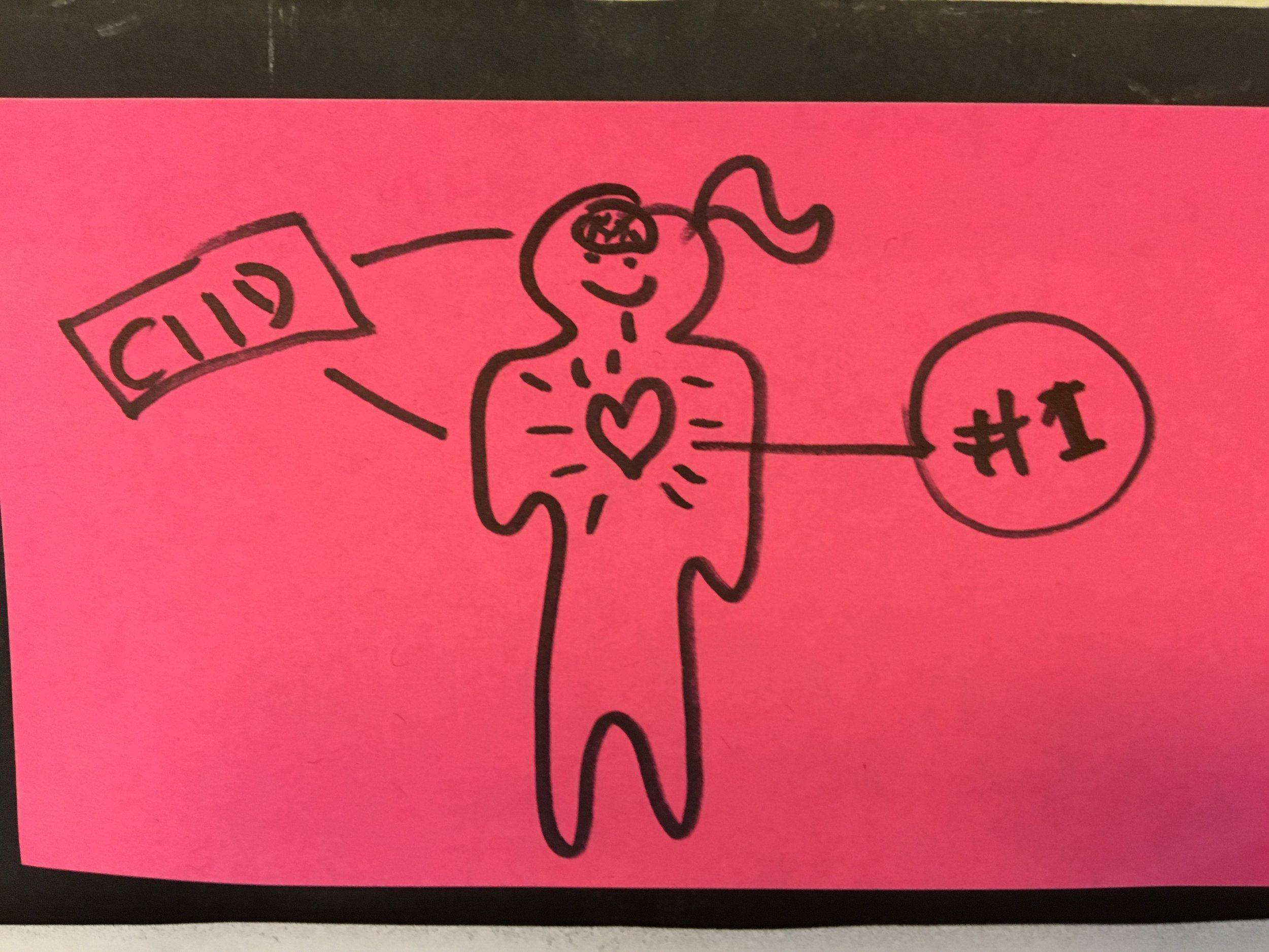 """Heart is #1"" drawing by my advisor Erlend Kyte"