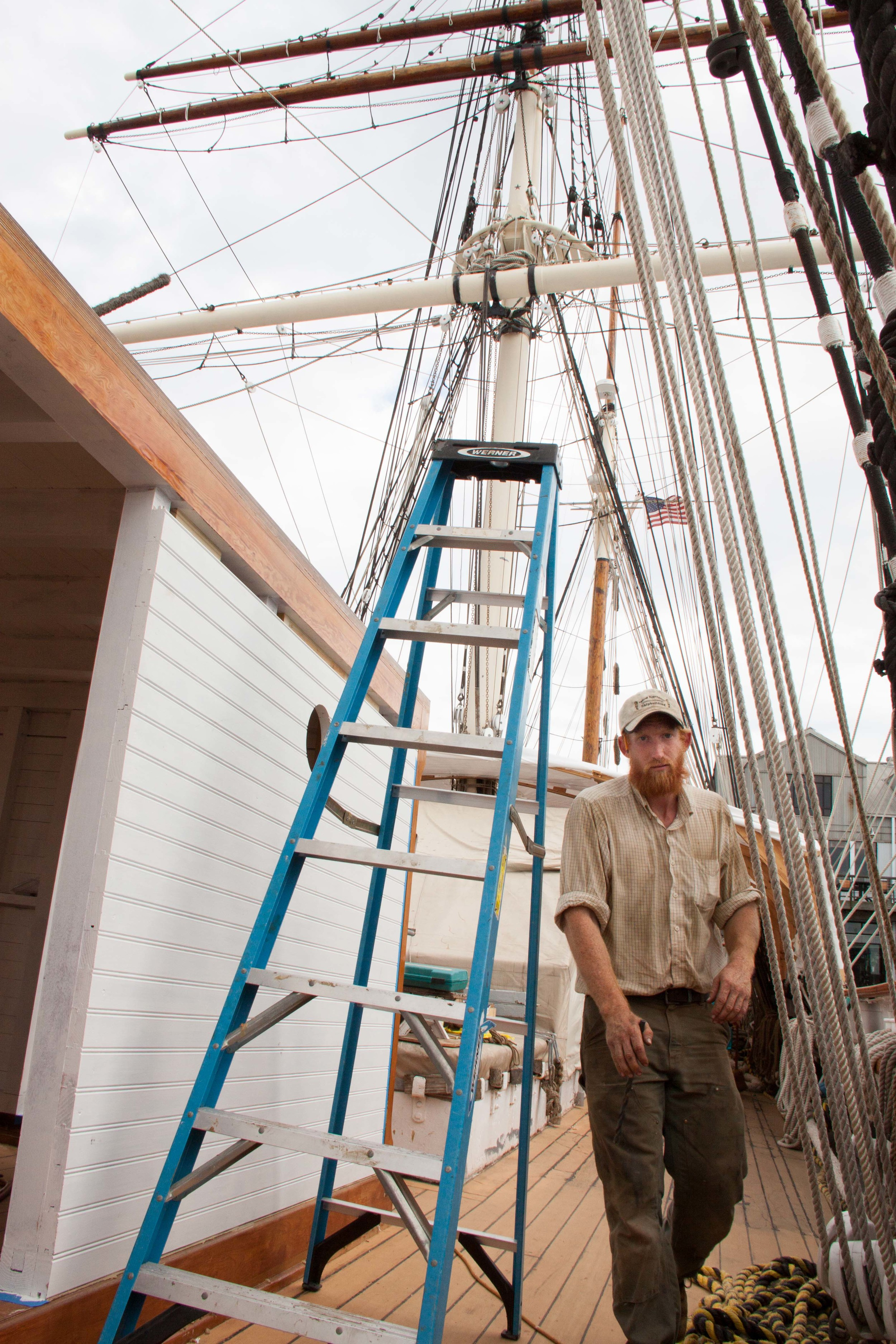 Rob Blood, a shipwright based in Maine, came down during a six week crunch period.