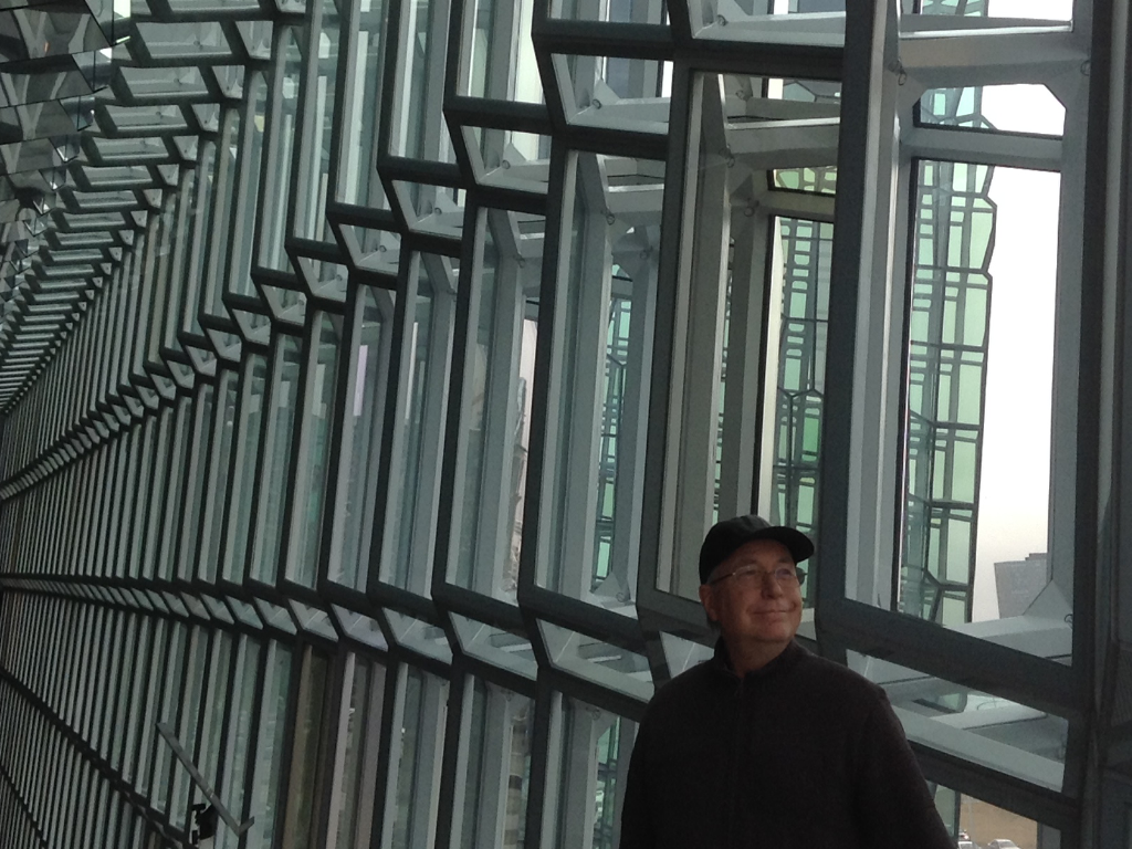Richard was interested in Icelandic architecture, specially the Harpa concert hall in Reykjavík City.