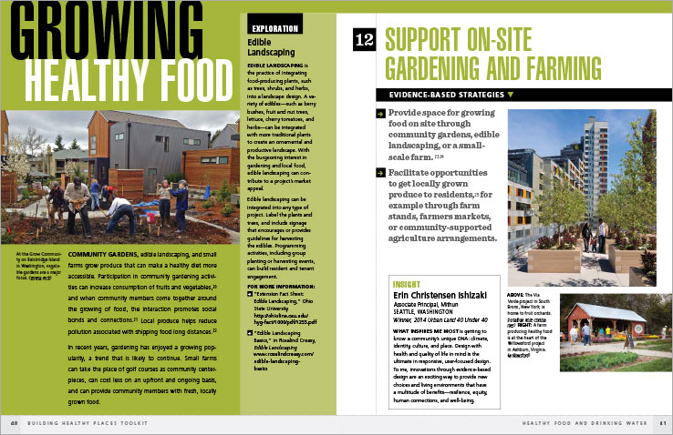 Book Design Portfolio: Architecture, Urban Development Book: Building Healthy Places Toolkit