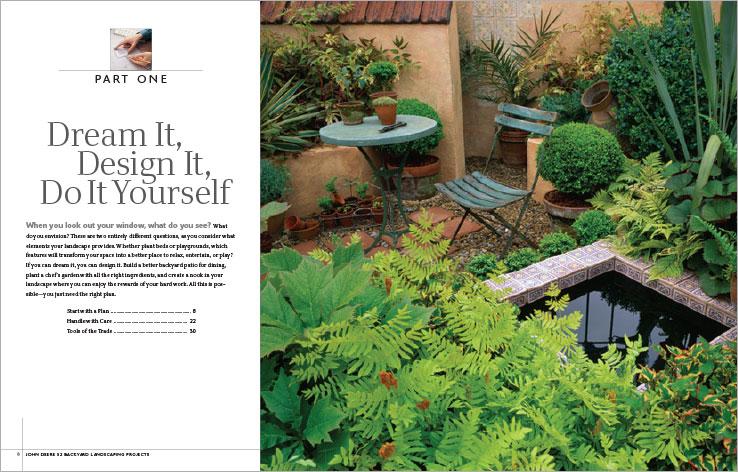 Book Design Portfolio: Home and garden design book: 52 Backyard Landscaping Projects