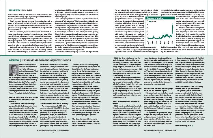 Newsletter Design Portfolio: Financial newsletter design: ETF Insider.