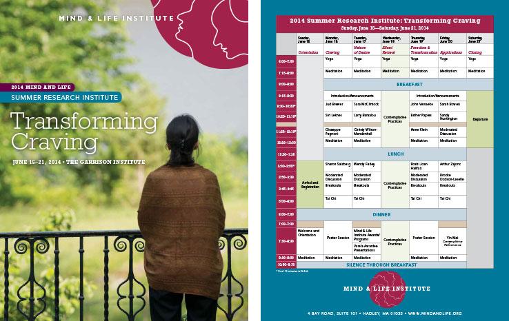 Program & Catalog Design: Summer Research Institute Program: Mind & Life Institute