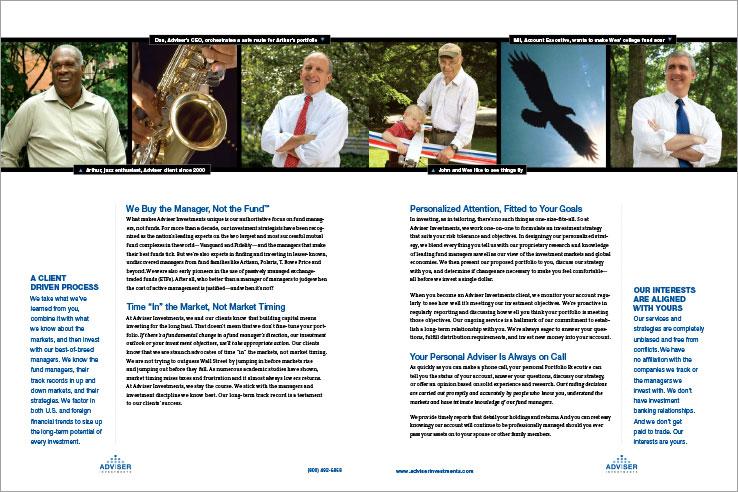 Marketing Collateral Design Portfolio: Company Brochure: Adviser Investments