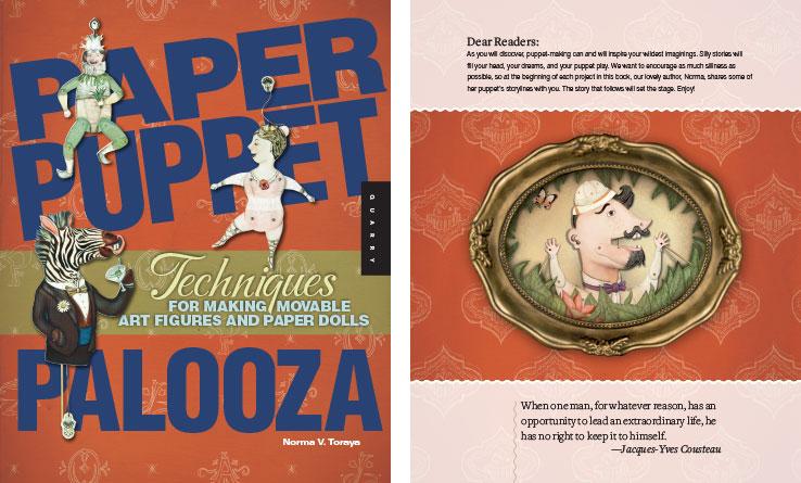 Book Design Portfolio: Arts & Crafts Book: Paper Puppet Palooza
