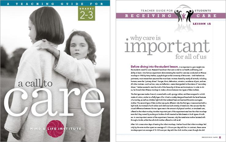 Program & Catalog Design: Call to Care Curriculum Guide : Mind & Life Institute