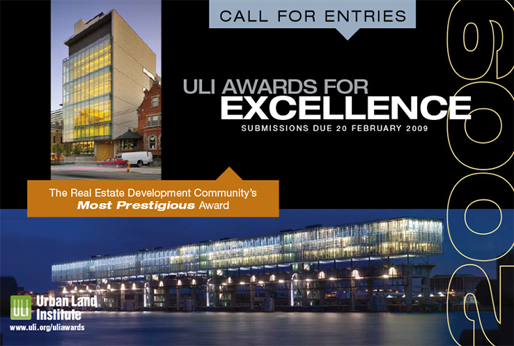 Marketing Collateral Design Portfolio: Direct Mail Card: Urban Land Institute