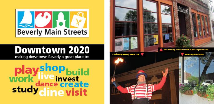 Marketing Collateral Design Portfolio: Fundraising Brochure: Beverly Main Streets