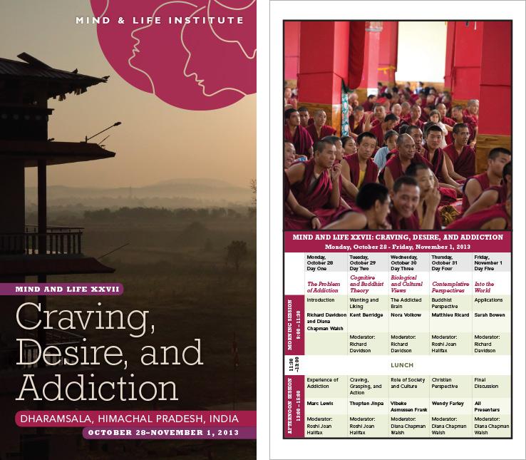 Program & Catalog Design: Dharamsala Conference Program: Mind & Life Institute.
