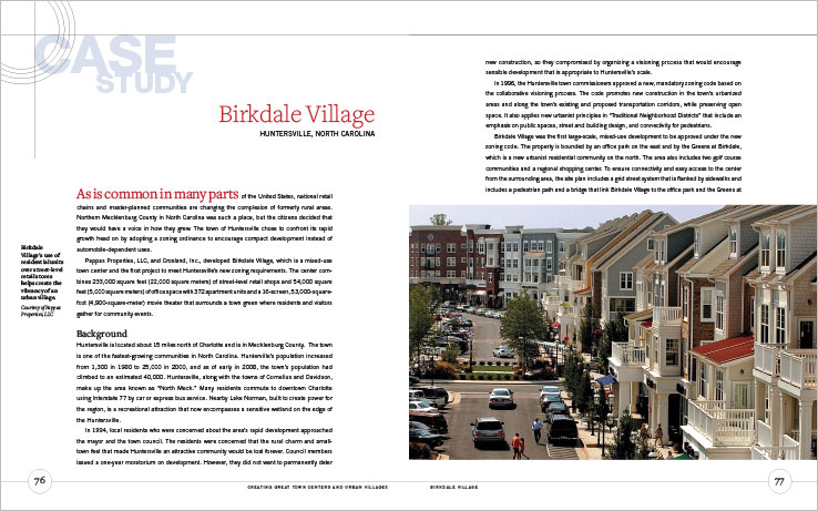 Book Design Portfolio: Urban design book: Creating Great Town Centers and Urban Villages