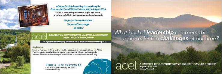 Marketing Collateral Design Portfolio: 4 Panel Brochure: Mind and Life Institute.